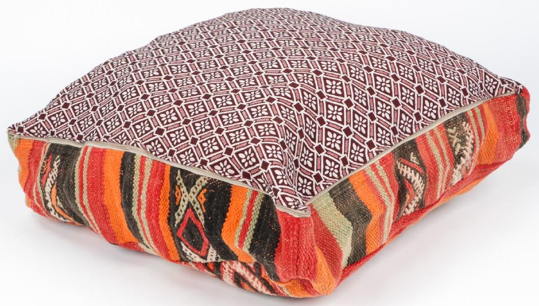3 Vintage Moroccan Kilim Floor Cushions - 5