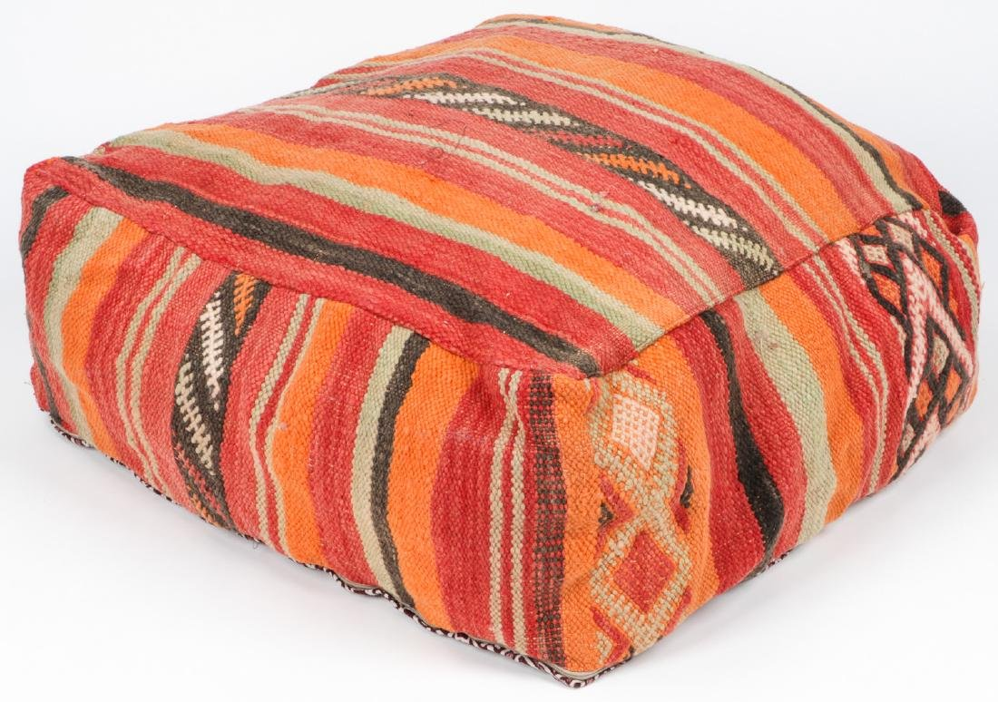 3 Vintage Moroccan Kilim Floor Cushions - 6
