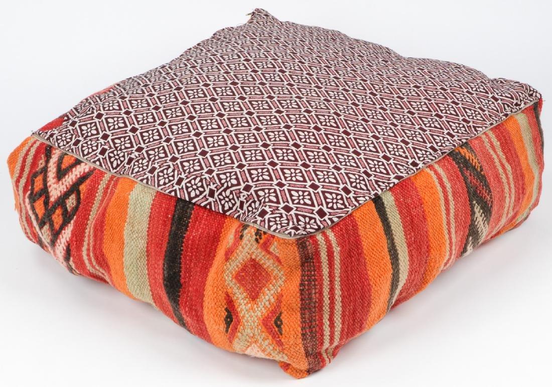 3 Vintage Moroccan Kilim Floor Cushions - 7
