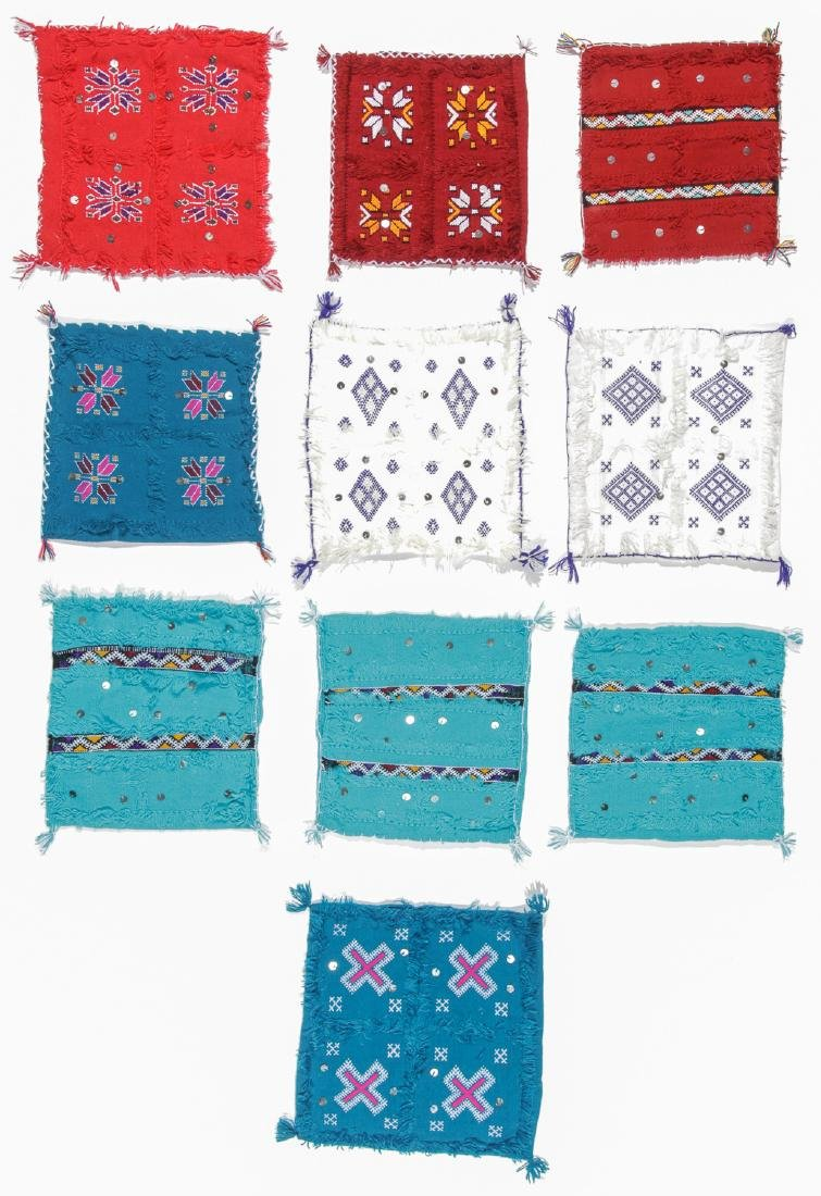 Group of 10 Moroccan Cushion Covers