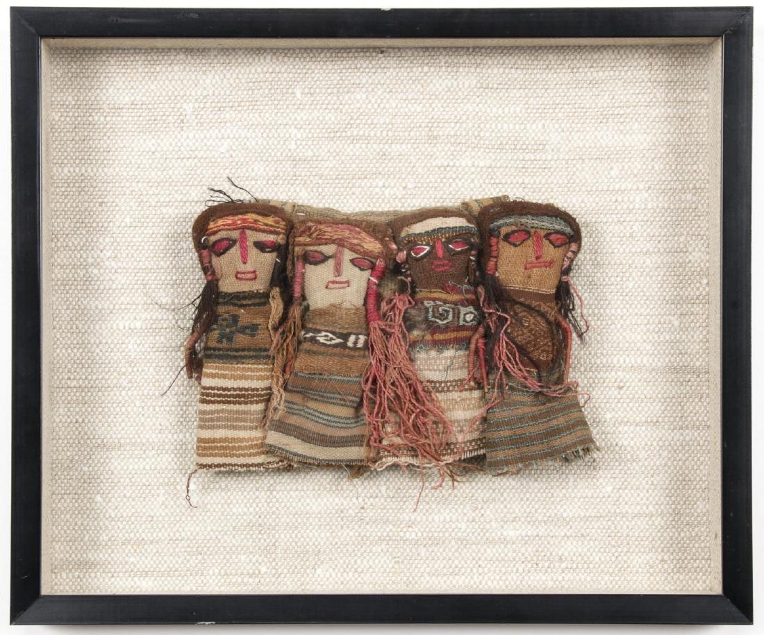 4 Pre-Columbian Textile Dolls, Peru