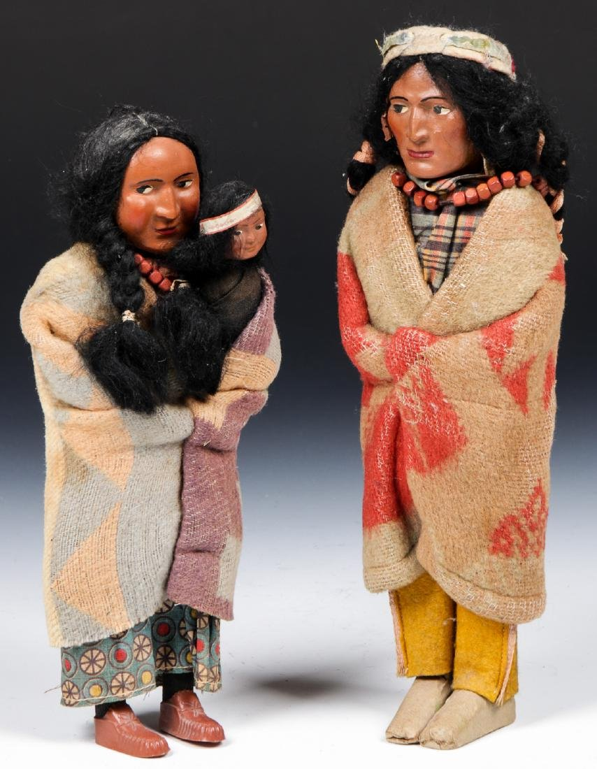 Pair of Skookum dolls