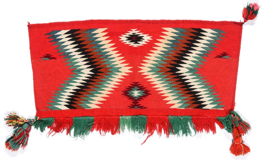 Germantown Navajo Saddle Rug, Circa 1900