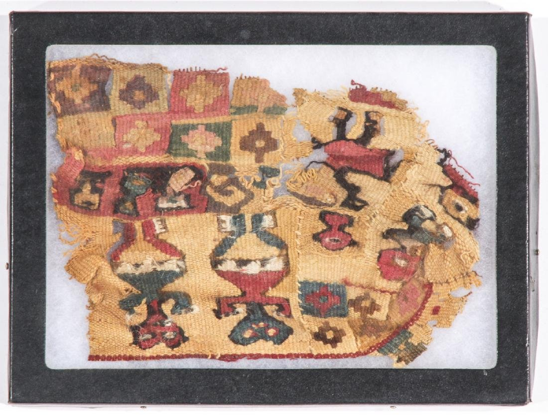 4 Pre-Columbian Textile Fragments in Frames - 2
