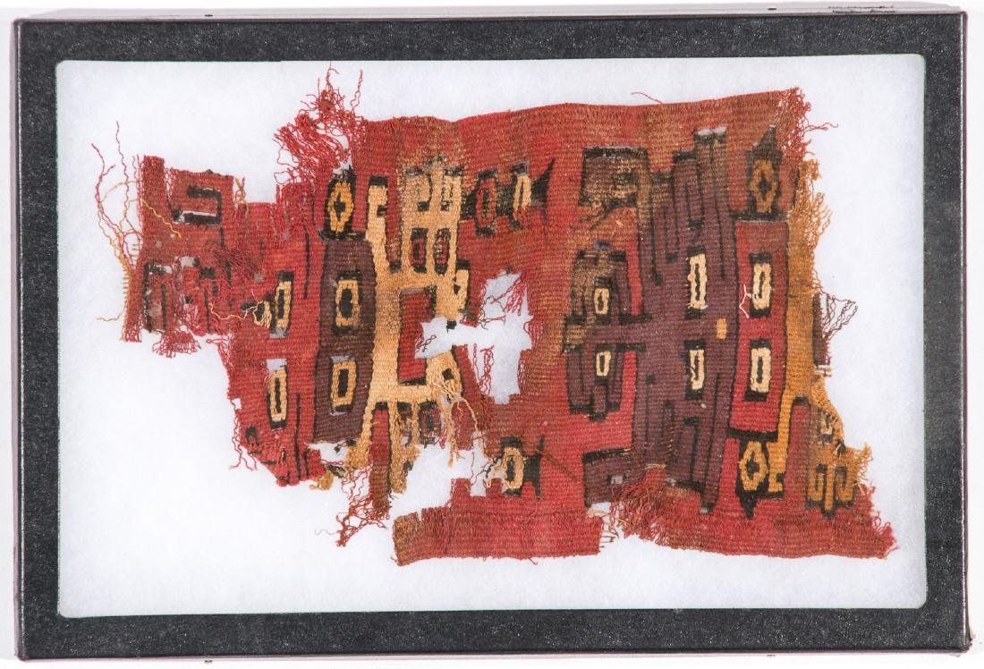 4 Pre-Columbian Textile Fragments in Frames - 4