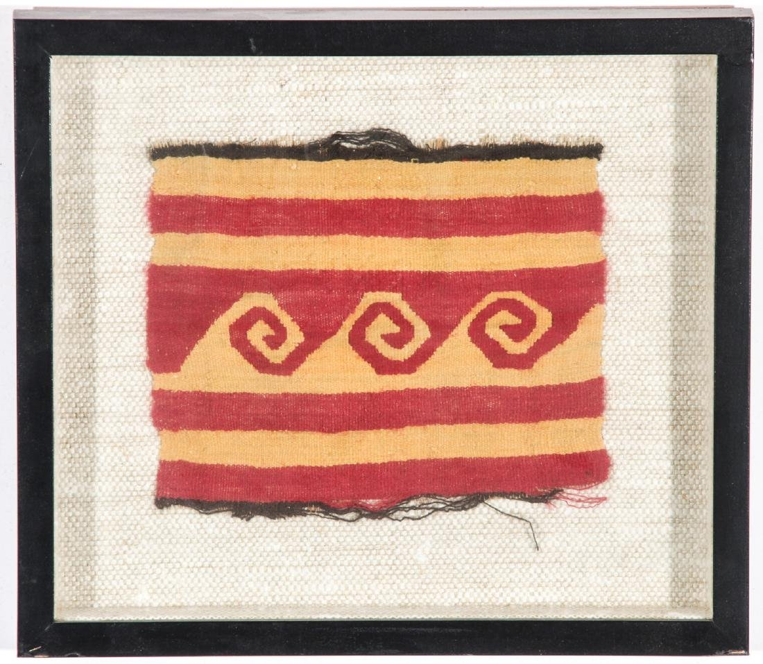 4 Pre-Columbian Textile Fragments in Frames - 5