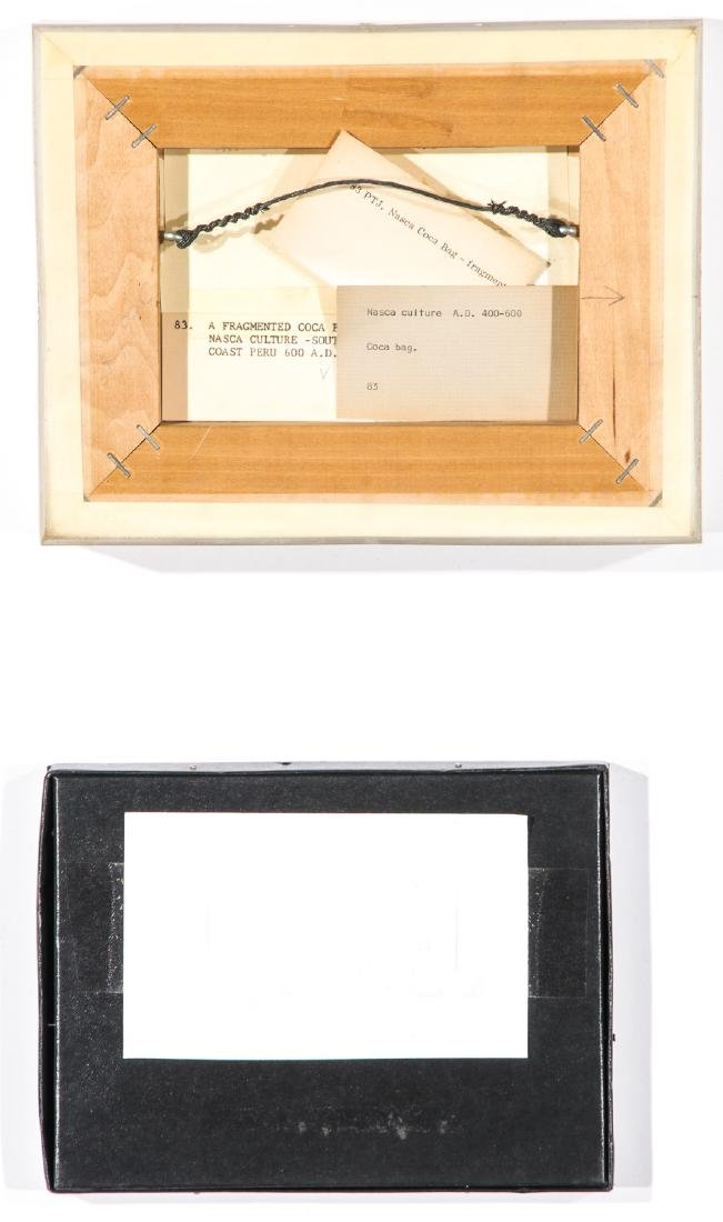 4 Pre-Columbian Textile Fragments in Frames - 7