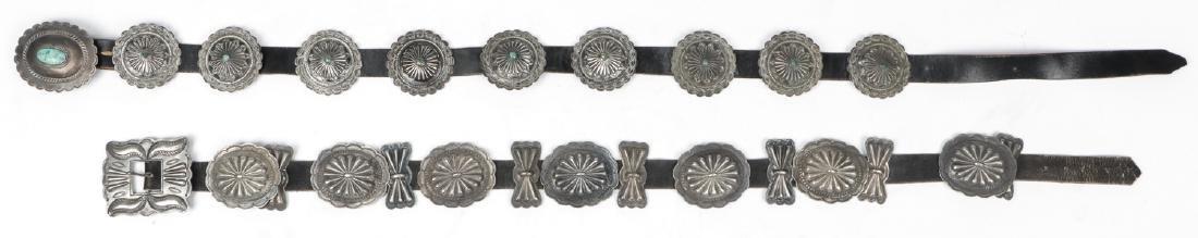 2 Fine Old Native American Concho Belts