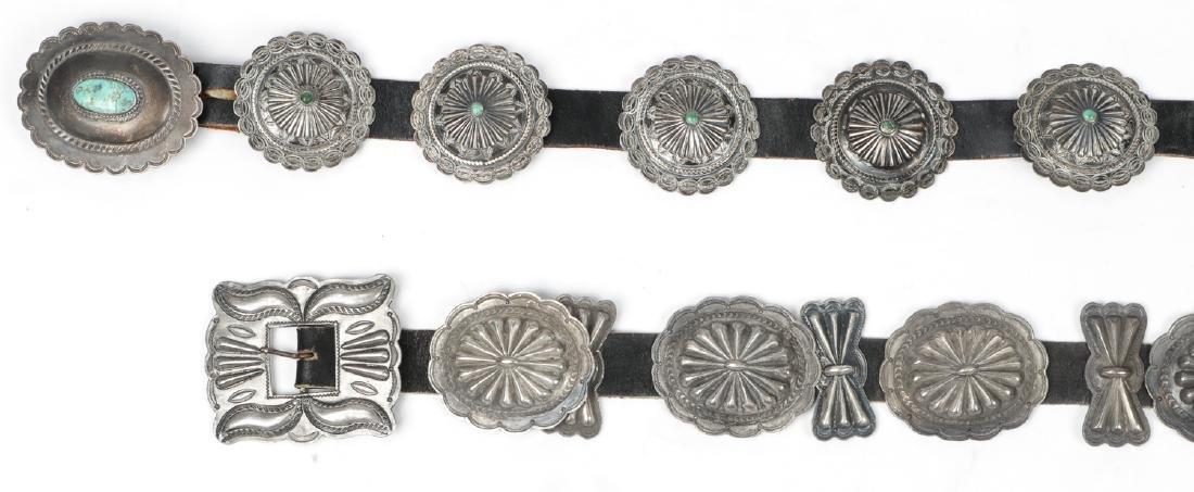 2 Fine Old Native American Concho Belts - 2