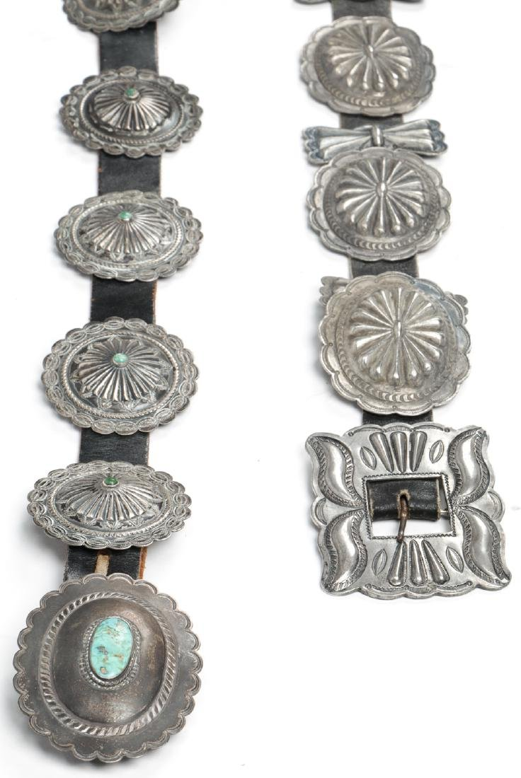 2 Fine Old Native American Concho Belts - 4