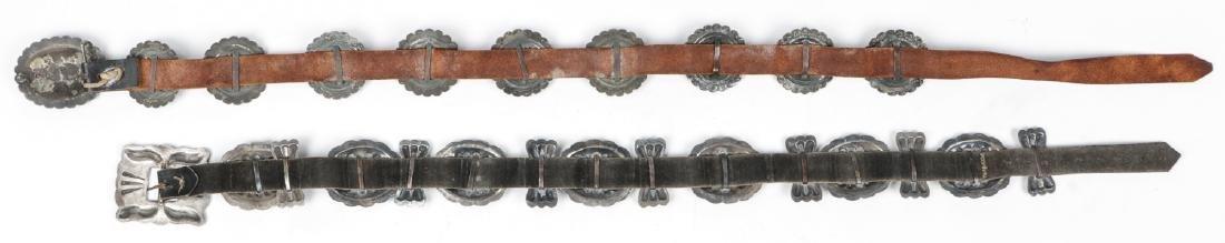2 Fine Old Native American Concho Belts - 5