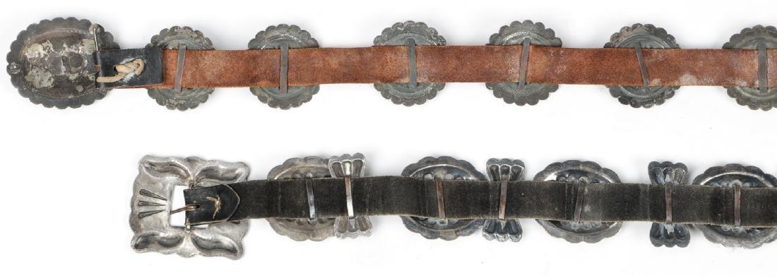 2 Fine Old Native American Concho Belts - 6