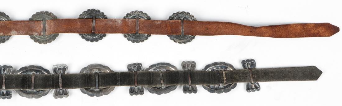 2 Fine Old Native American Concho Belts - 7