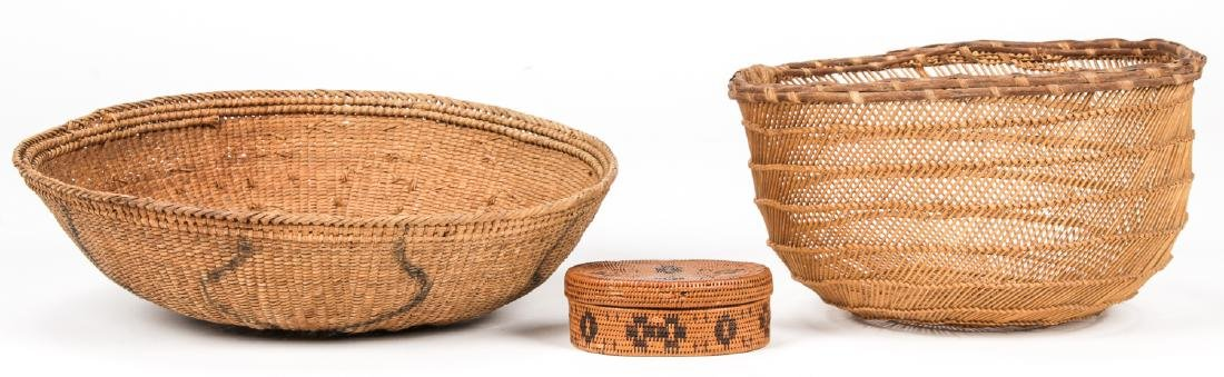 Collection of 5 Native American & Ethnographic Baskets - 5