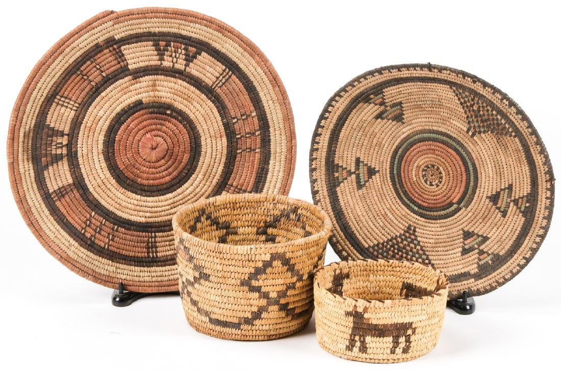 Collection of 4 Native American & Ethnographic Baskets