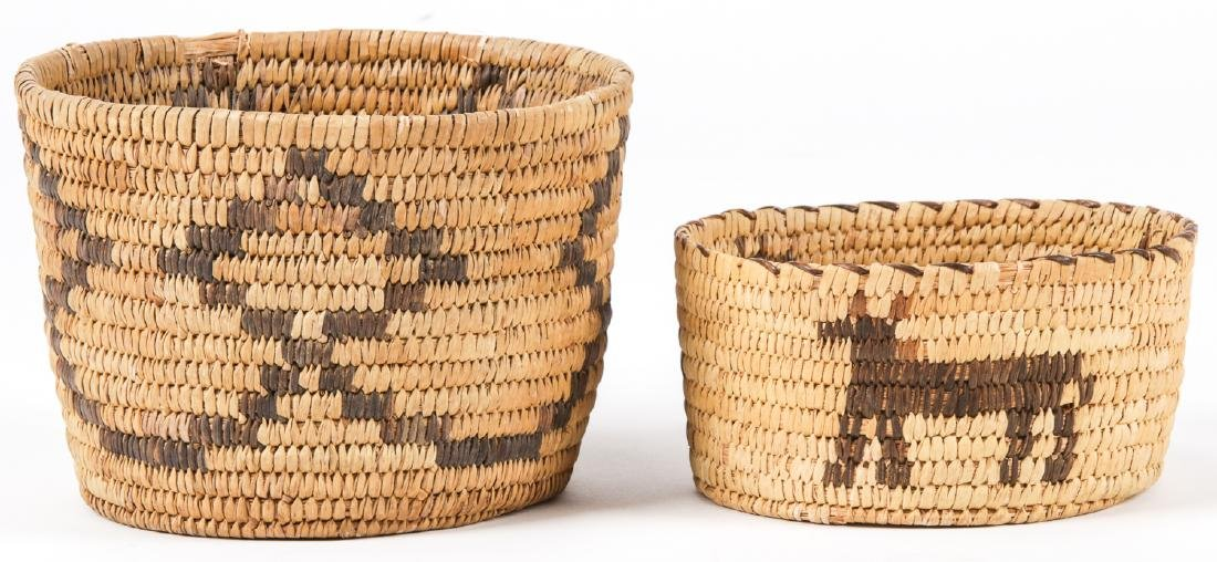 Collection of 4 Native American & Ethnographic Baskets - 5