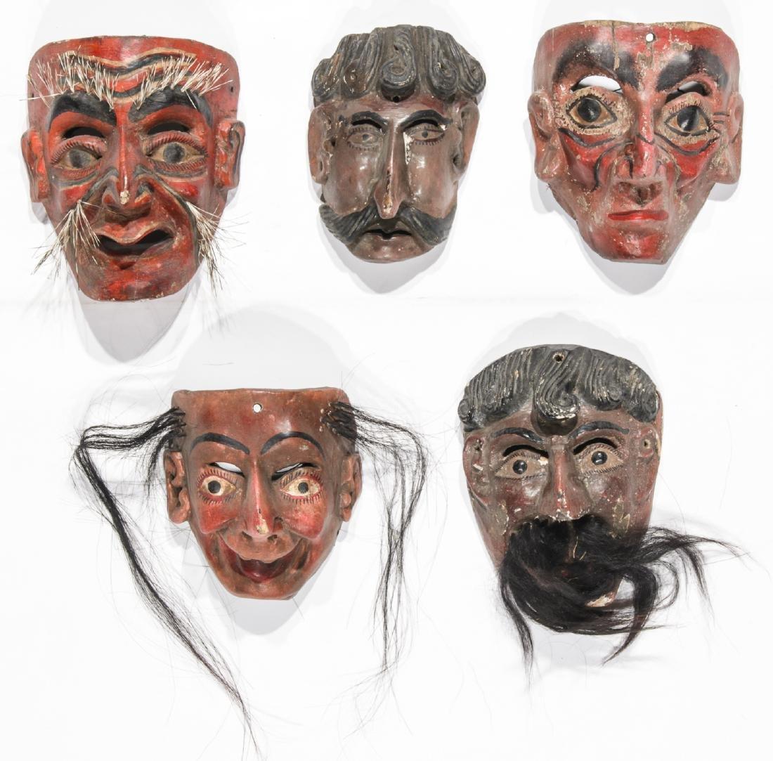 5 Vintage Mexican Festival Masks