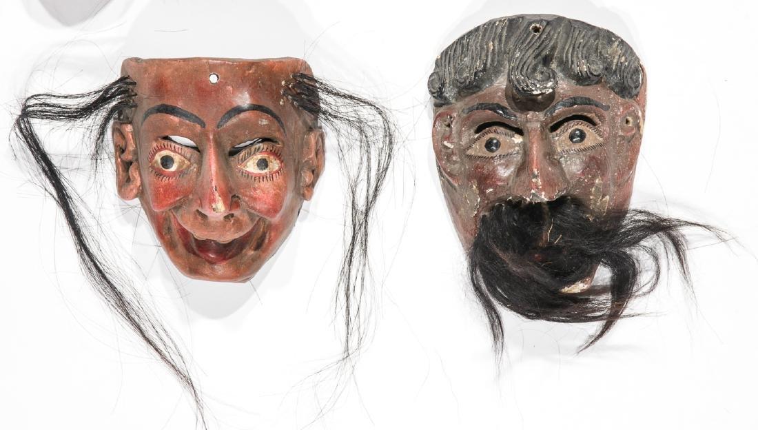 5 Vintage Mexican Festival Masks - 3