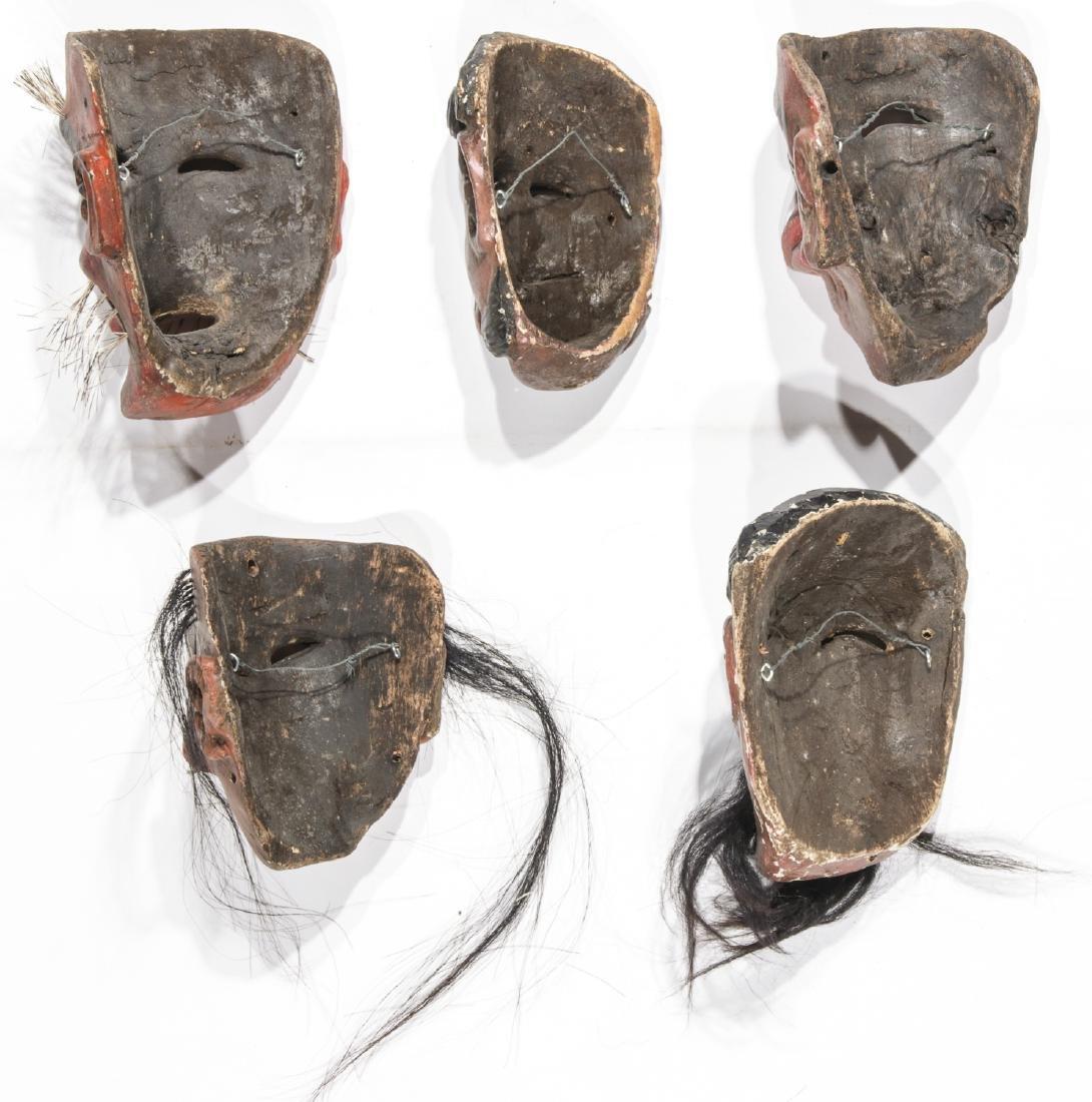 5 Vintage Mexican Festival Masks - 4