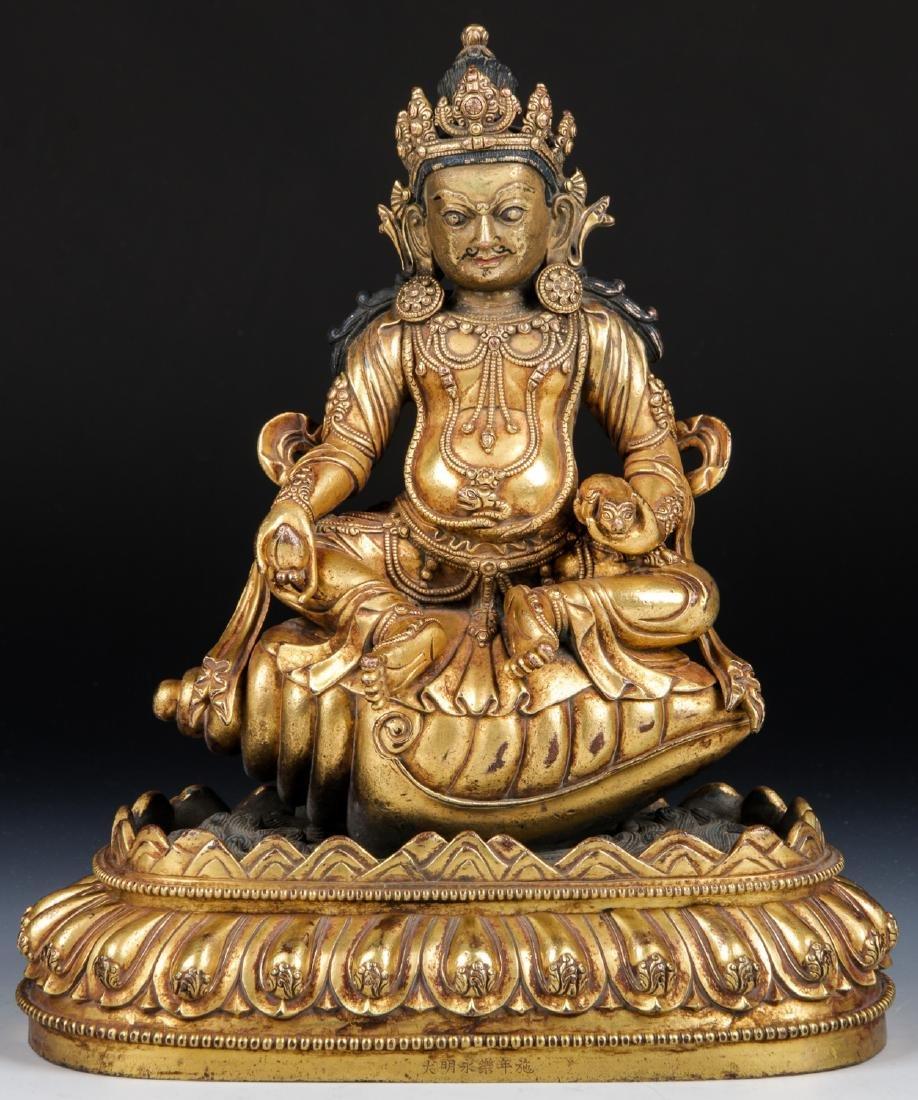 Fine Antique Sino/Tibetan Bronze Statue of