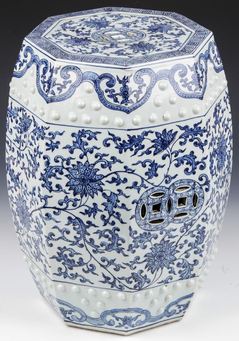 Fine Chinese Blue and White Garden Stool