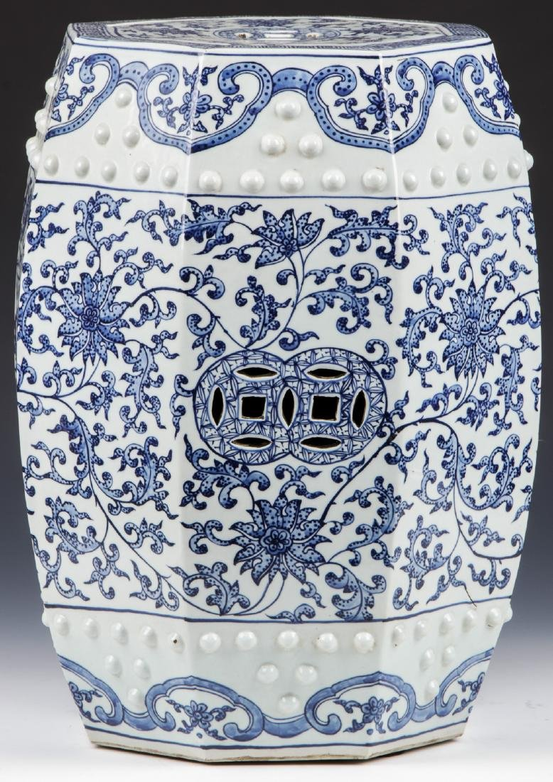 Fine Chinese Blue and White Garden Stool - 4