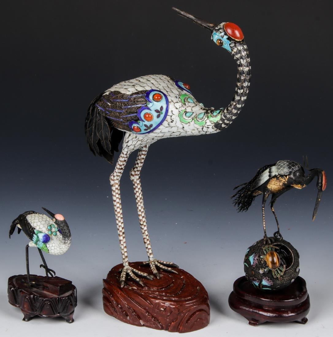 3 Fine Chinese Cranes