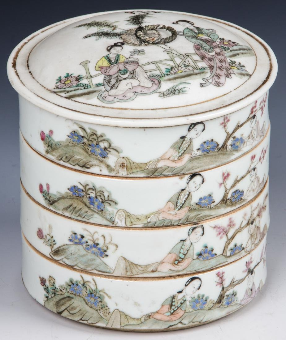 Antique Chinese Porcelain Stacking Box