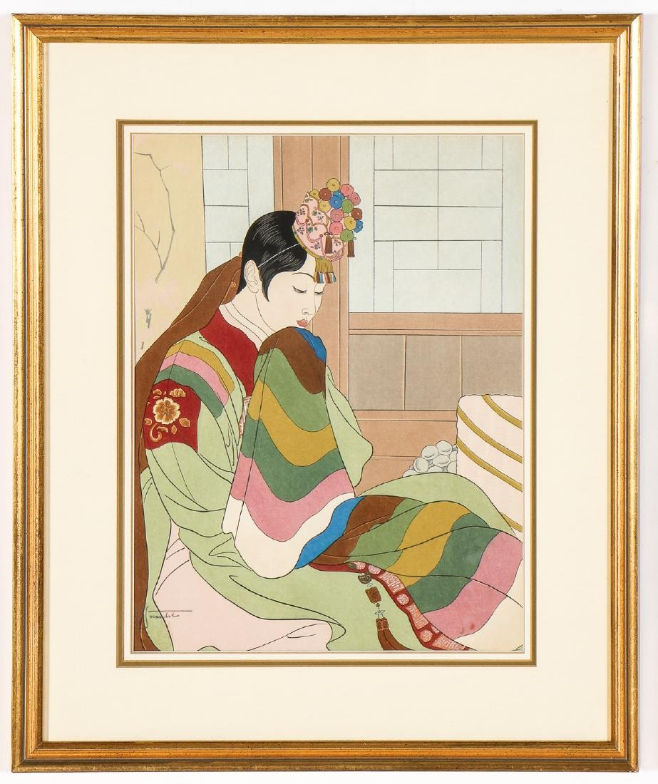 Paul Jacoulet (1902-1960) 2 Woodblock Prints - 2