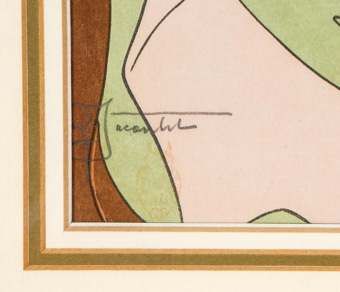 Paul Jacoulet (1902-1960) 2 Woodblock Prints - 4