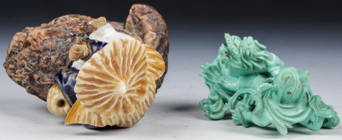 4 Asian Decorative Arts Objects - 8