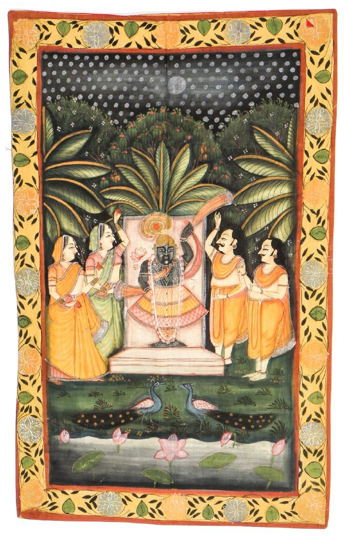 Collection of 5 Old Pichwai Paintings on Cloth, India - 6