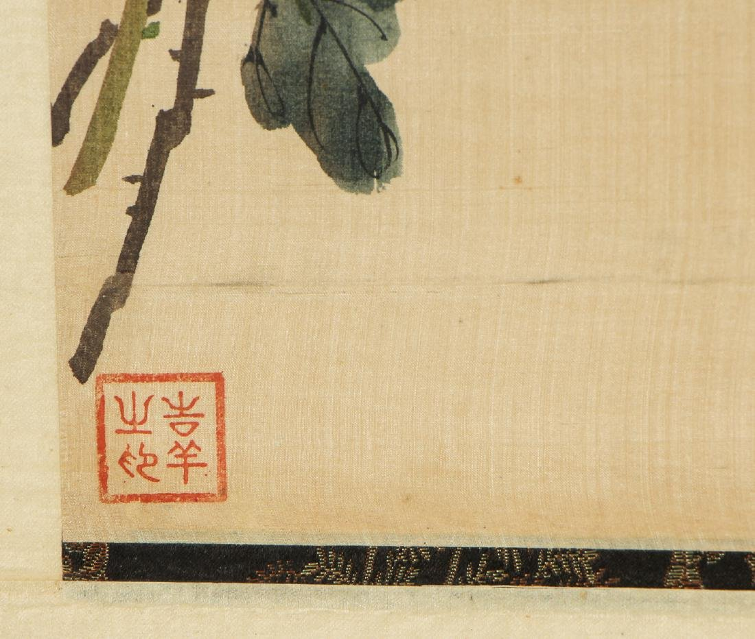Pair of Chinese (20th c.) Paintings on Silk - 4
