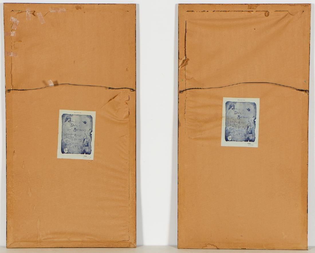 Pair of Chinese (20th c.) Paintings on Silk - 6