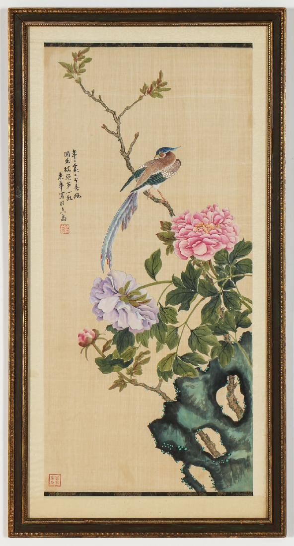 Pair of Chinese (20th c.) Paintings on Silk - 7