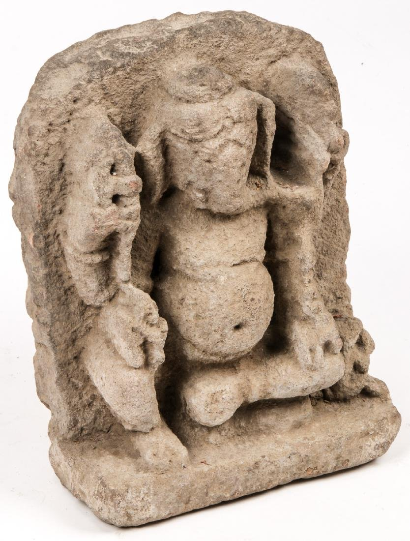10th/12th C. Sandstone Carving of Ganesh - 2