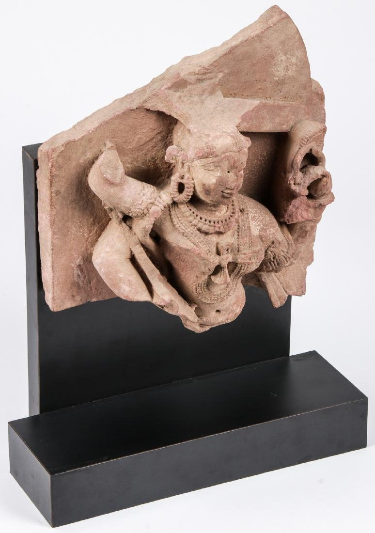 Carved Red Sandstone Sculpture of Parvati, India, 12th - 2