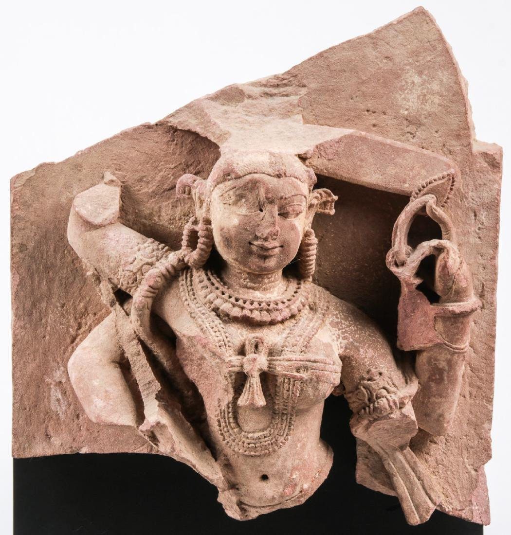 Carved Red Sandstone Sculpture of Parvati, India, 12th - 6