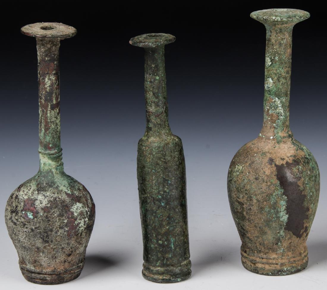 3 Luristan Bronze Vases, 1000 to 700 BCE