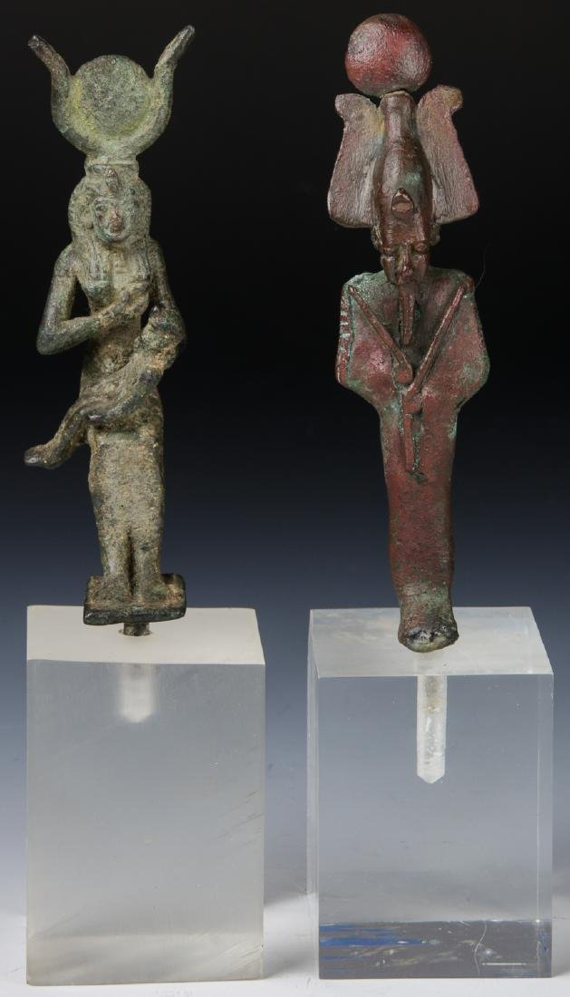 2 Egyptian Bronze Figures, 25th/26th D. (712-525 BCE)