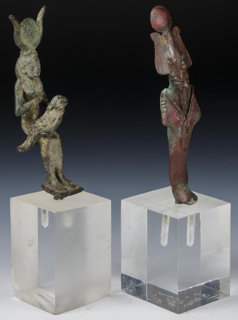 2 Egyptian Bronze Figures, 25th/26th D. (712-525 BCE) - 2