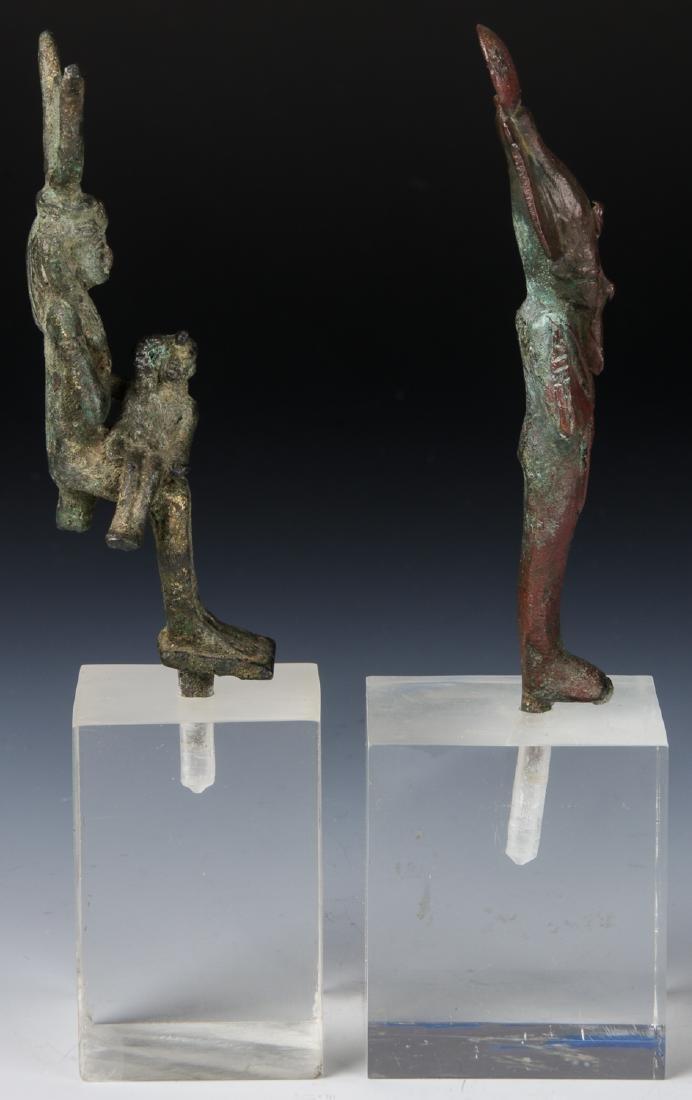 2 Egyptian Bronze Figures, 25th/26th D. (712-525 BCE) - 3