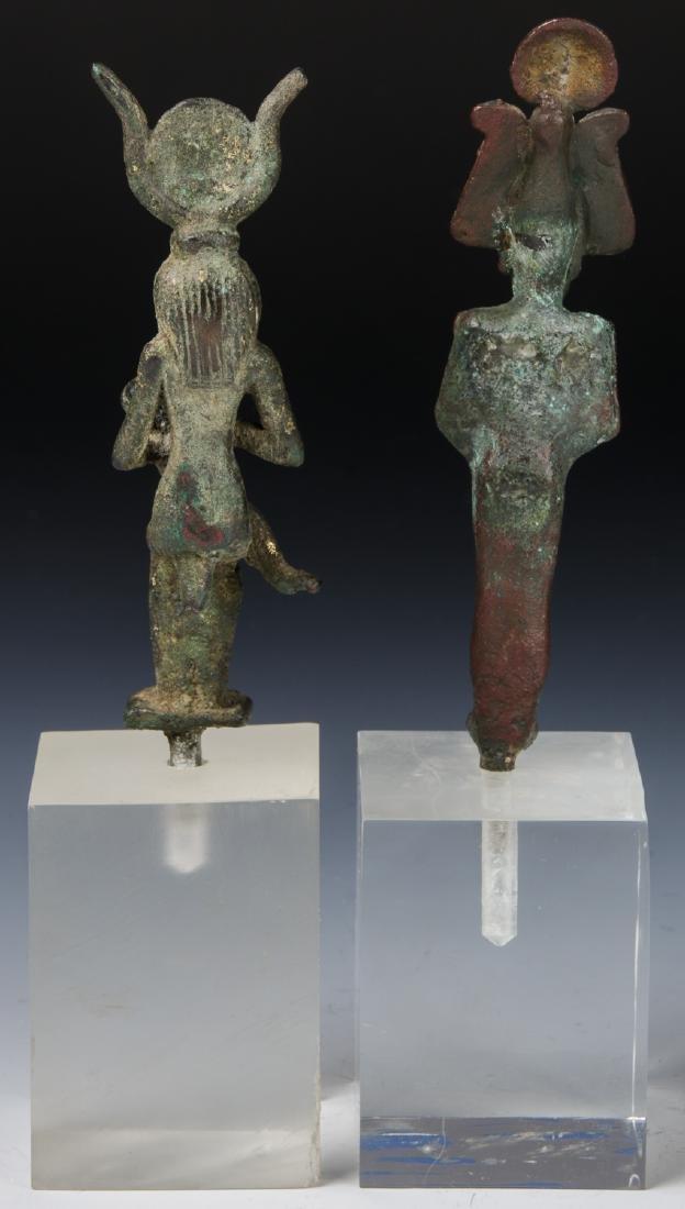 2 Egyptian Bronze Figures, 25th/26th D. (712-525 BCE) - 4