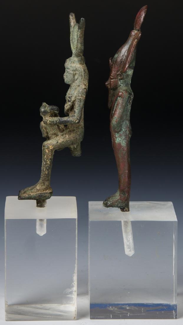 2 Egyptian Bronze Figures, 25th/26th D. (712-525 BCE) - 5