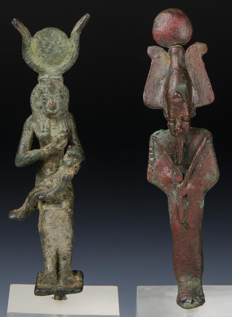 2 Egyptian Bronze Figures, 25th/26th D. (712-525 BCE) - 6
