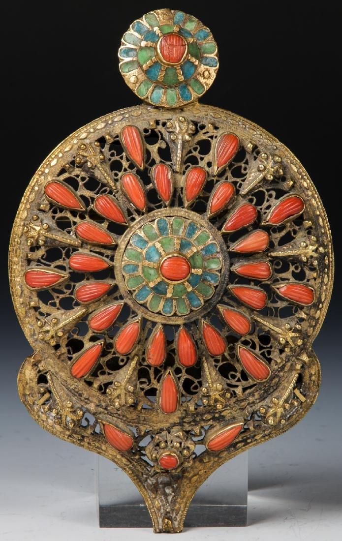 Fine Antique Ottoman Jewel Decorated Gilt Buckle