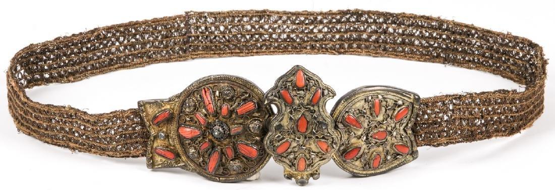 Fine Antique Ottoman Silver & Jewel Decorated Belt