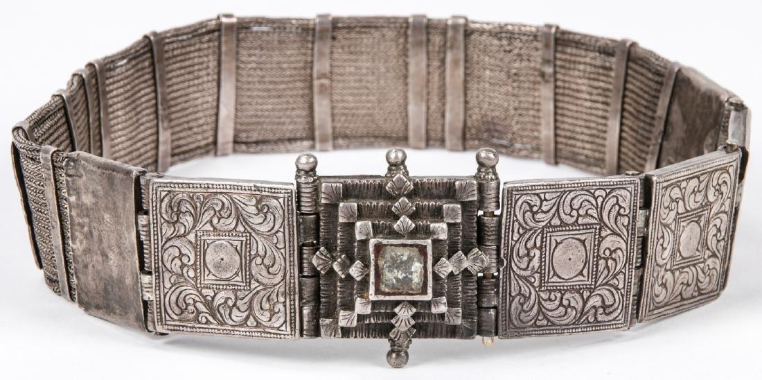 Antique Caucasian/Russian Silver Belt