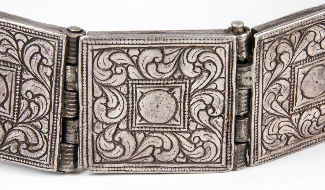 Antique Caucasian/Russian Silver Belt - 8