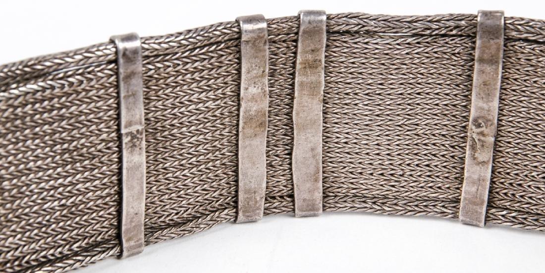 Antique Caucasian/Russian Silver Belt - 9